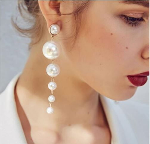 Earrings Women S Pearl Long Drop Fashion Jewelry Zabardo